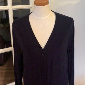 CHICO's travelers long navy sweater size s/m